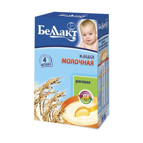 Каша БЕЛЛАКТ молочная быстрорастворимая 200 гр Рисовая (с 4 мес)<br>