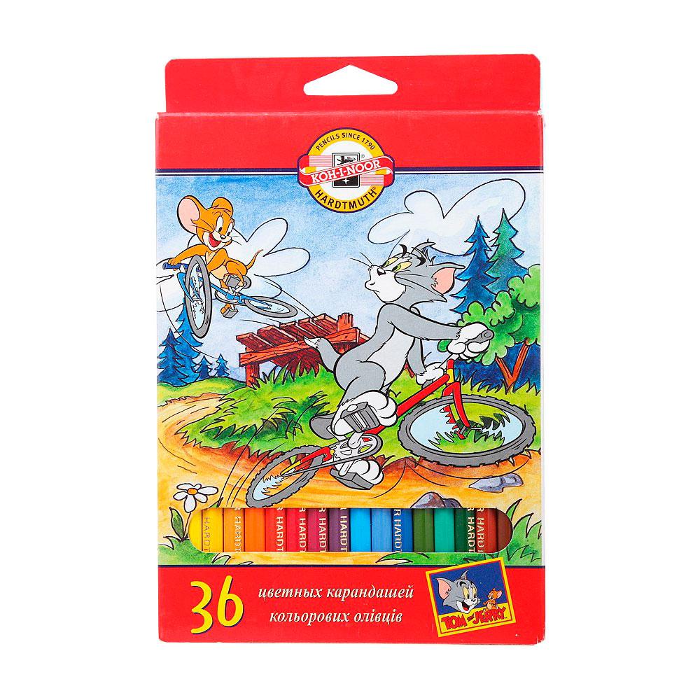 Набор карандашей цветных KOH-I-NOOR ТОМ И ДЖЕРРИ 36 цветов<br>