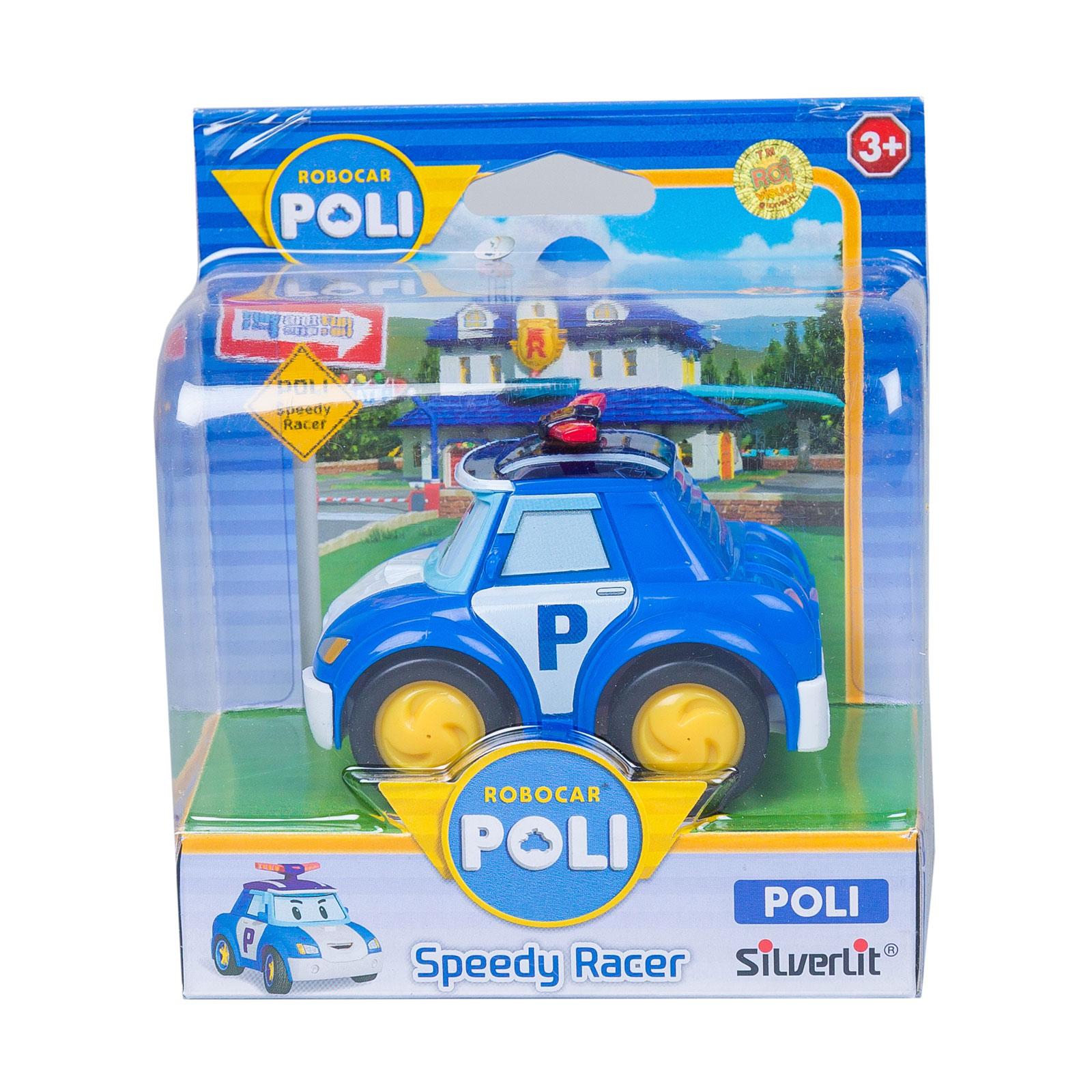 Машинки Silverlit Poli Robocar инерционные 8 см Полицейская 8 см с 3 лет<br>