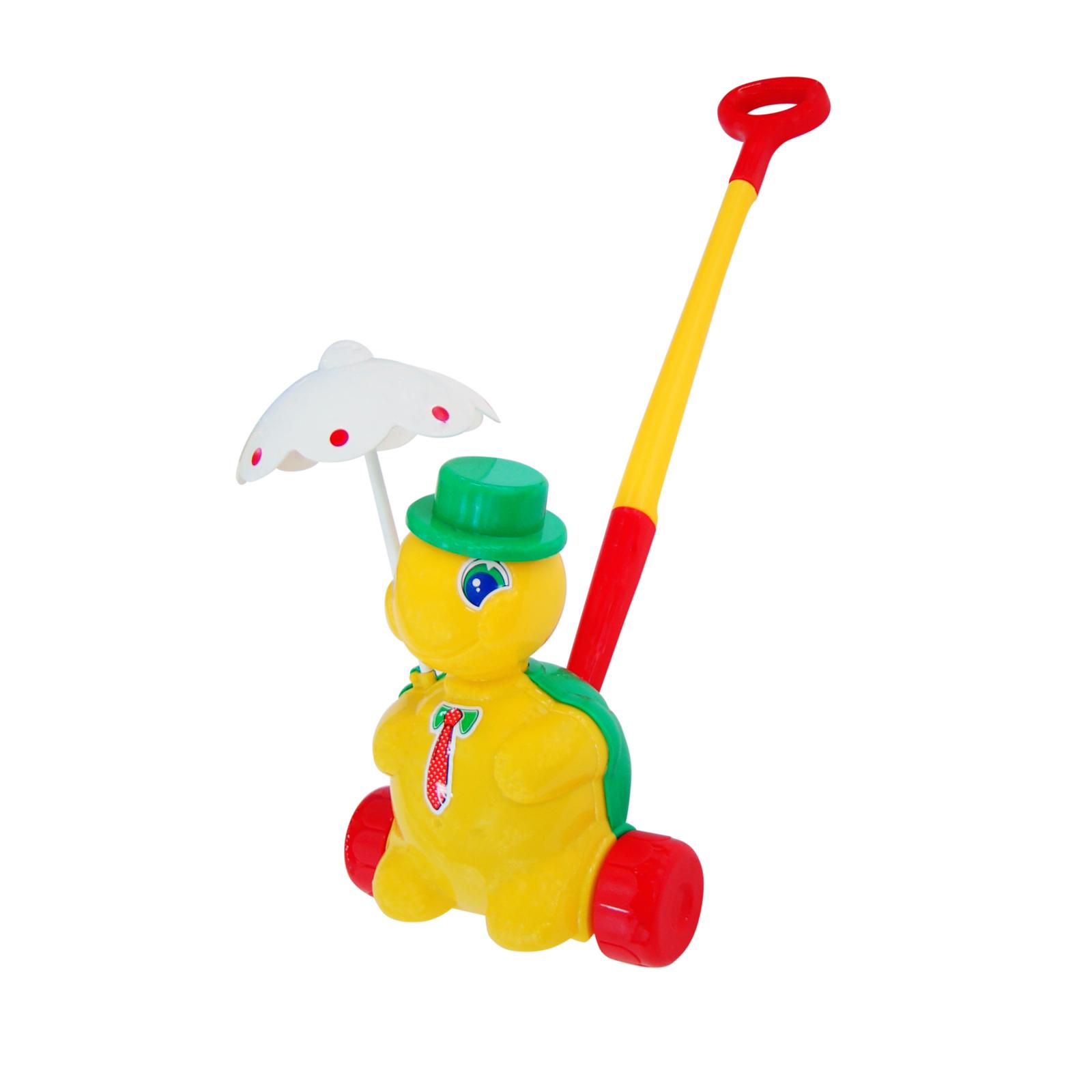 Каталка Полесье с 3 лет. (с ручкой) Черепаха Тортилла<br>
