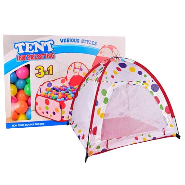 Игровая палатка YAKO С каркасом (в комплекте 65 шаров) Y20206016<br>