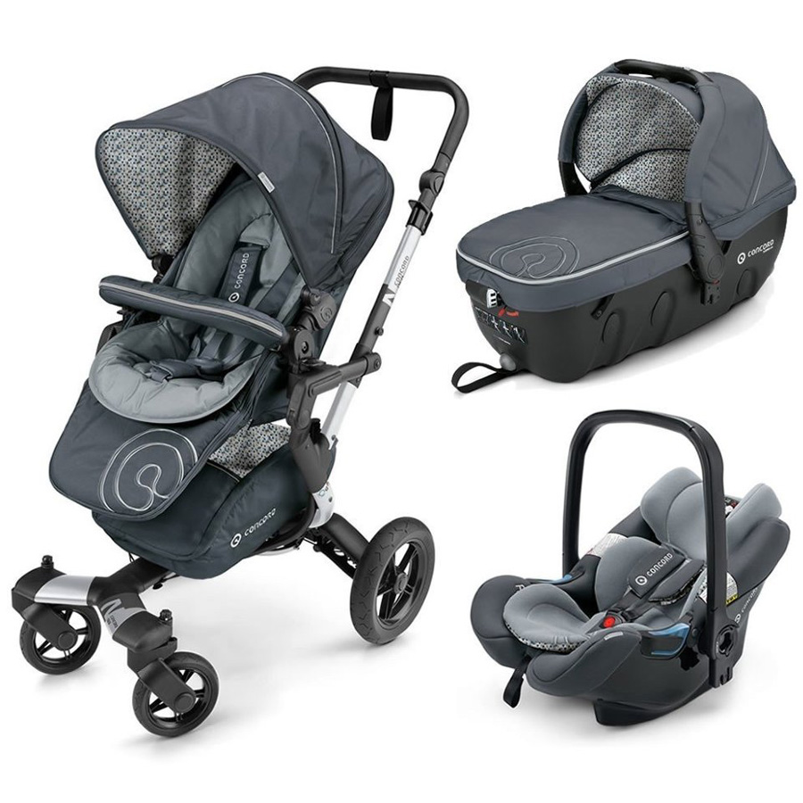 Коляска Concord Neo Travel Set 3 в 1 Graphite Grey<br>
