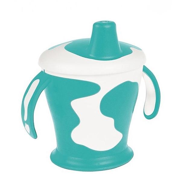 Чашка-непроливайка Canpol Babies С ручками 250 мл (с 9 мес) бирюзовая<br>