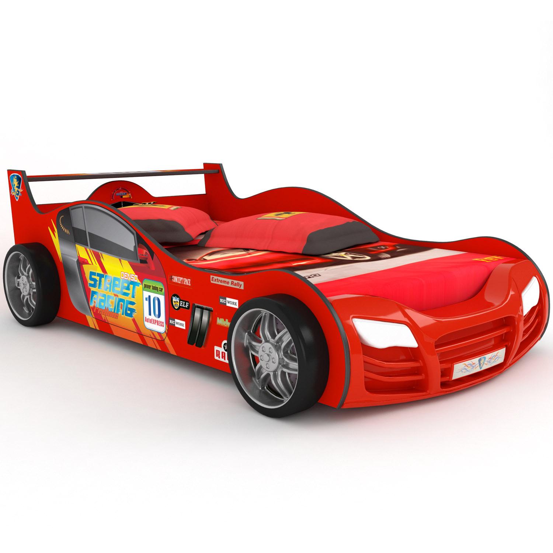 Кровать-машинка Grifon Style R800 Mini night light Красный<br>