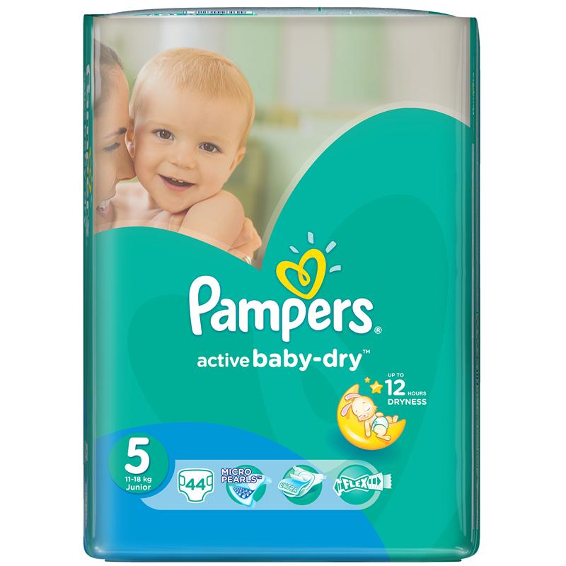 Подгузники Pampers Active Baby Junior 11-18 кг (44 шт) Размер 5