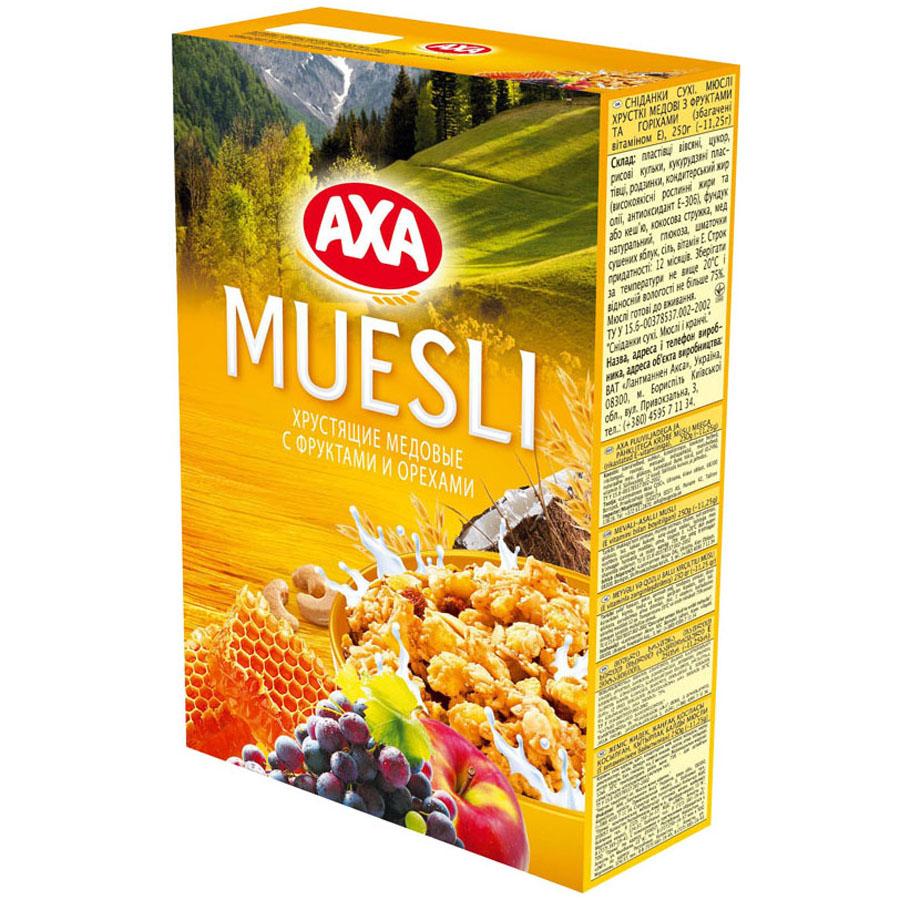 Мюсли АХА Мед с фруктами и орехами (хрустящие)<br>