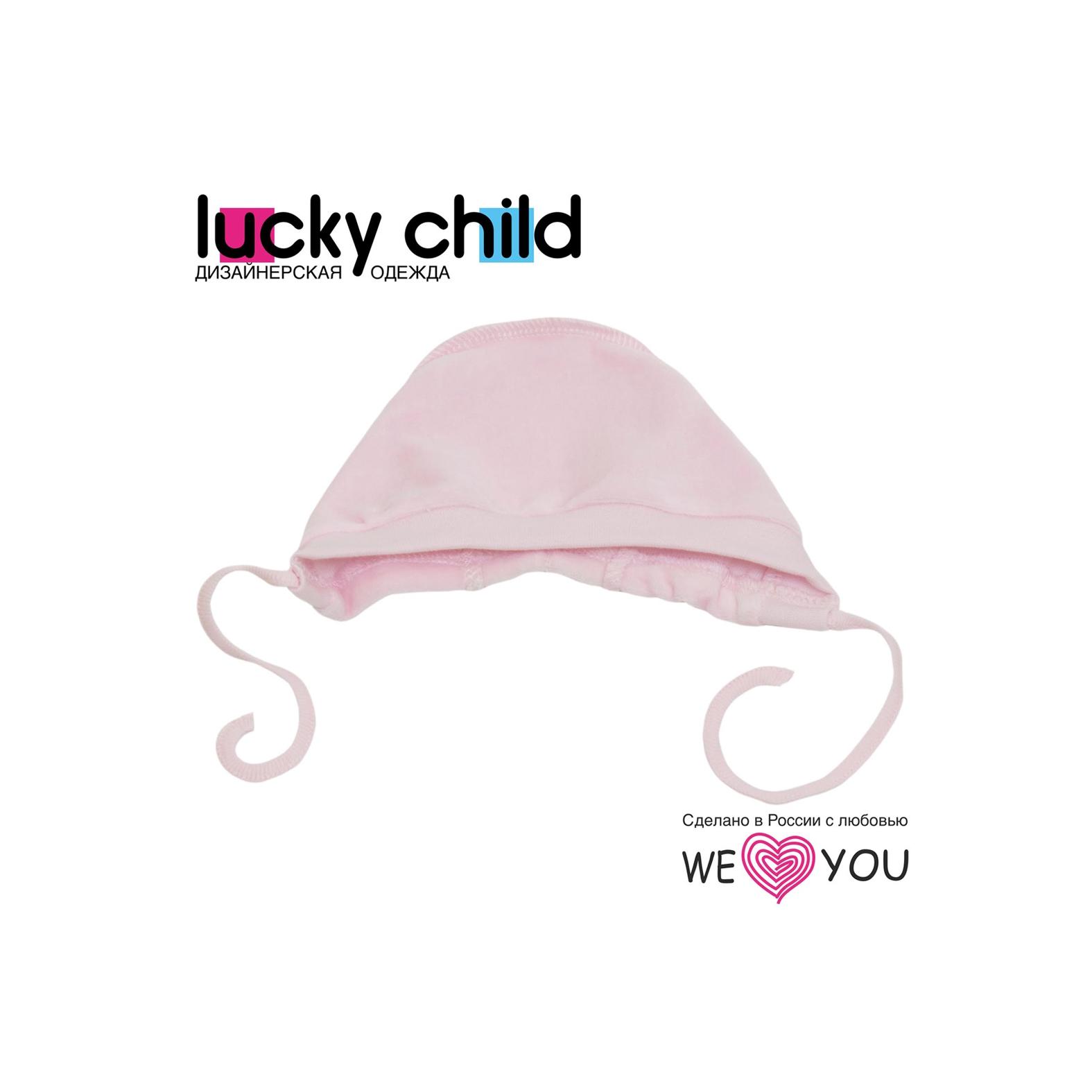 Чепчик из велюра Lucky Child, цвет розовый размер 45<br>