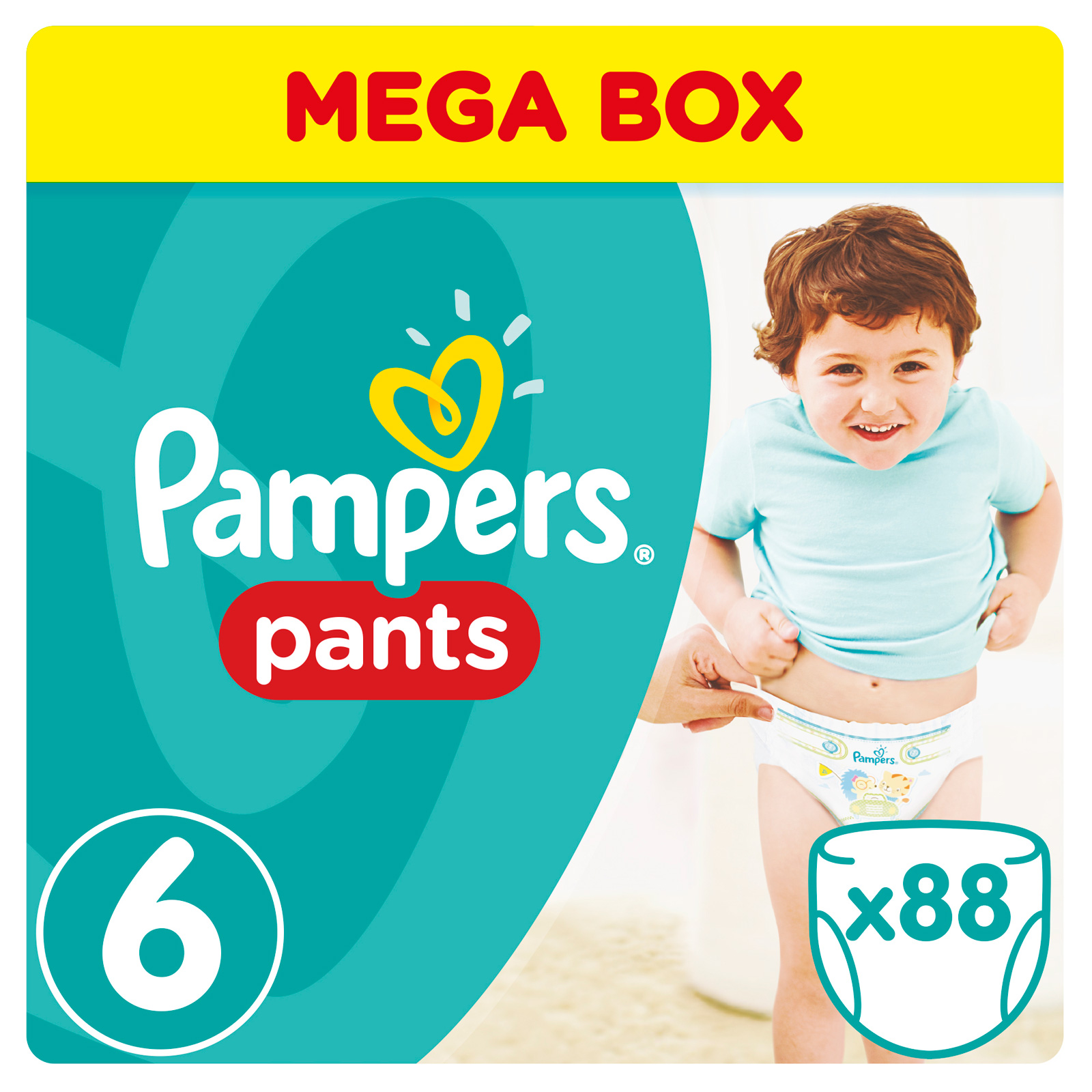 Трусики Pampers Pants Extra Large 16+ кг (88 шт) размер 6<br>