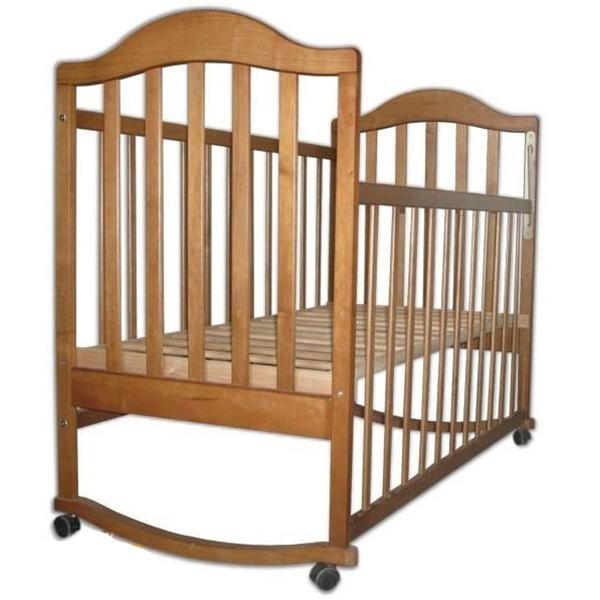 Кроватка  Наполеон колесо качалка Орех тонированный<br>