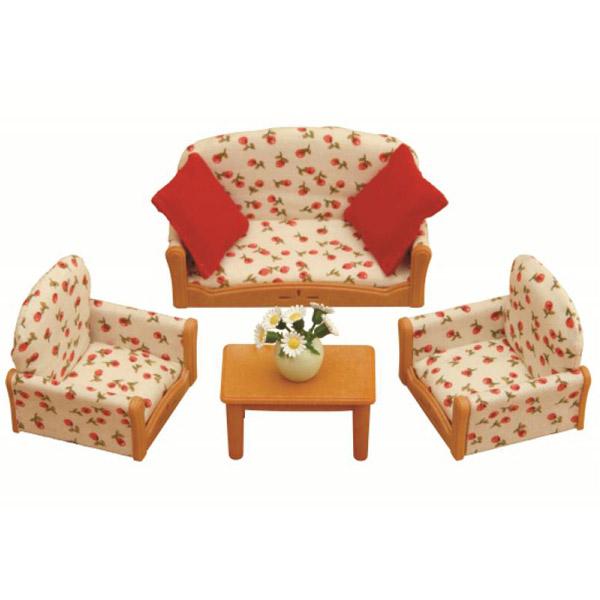 Мебель и аксессуары Sylvanian Families Мягкая мебель для гостиной<br>