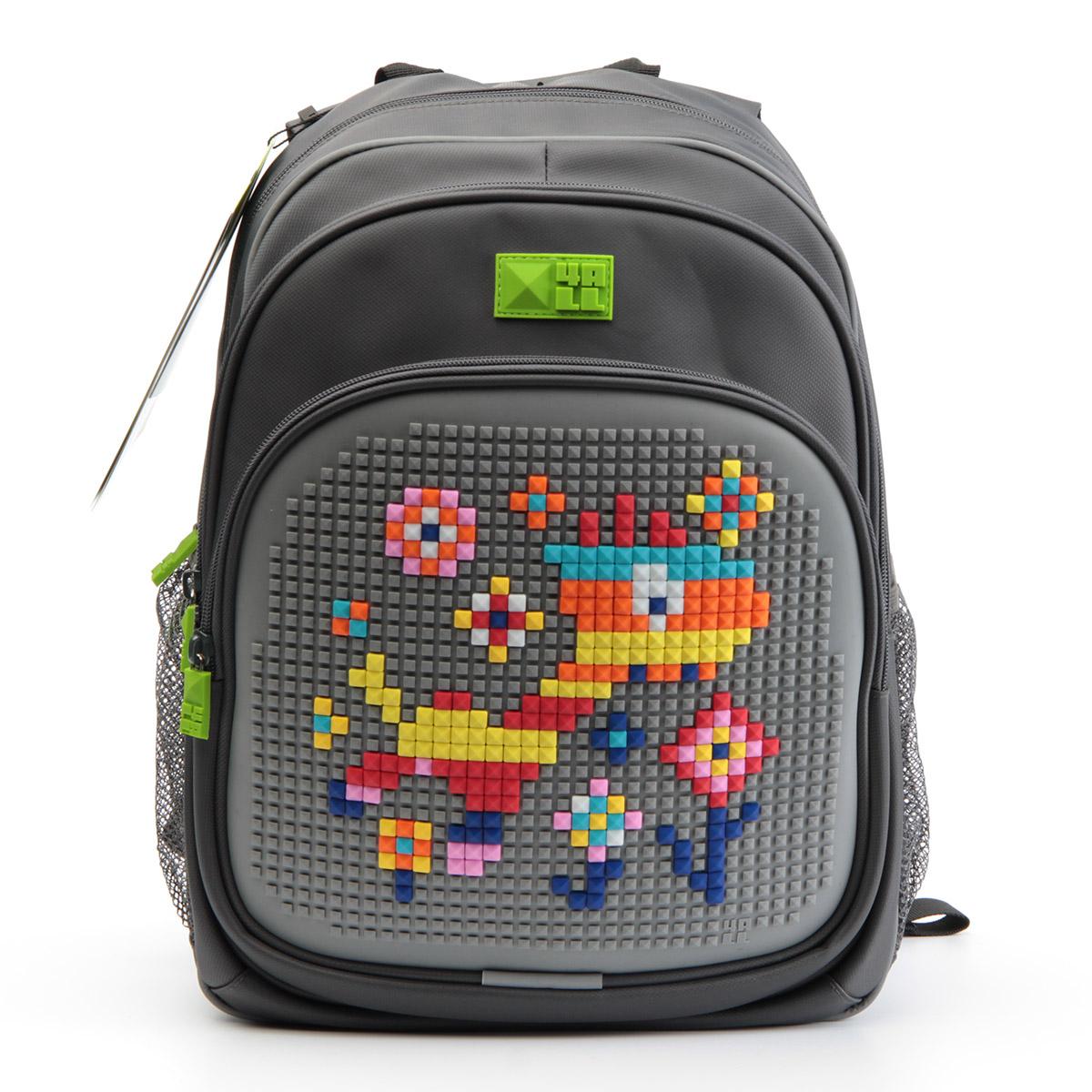 Рюкзак детский 4all KIDS Веселый жираф Серый  + Пиксели