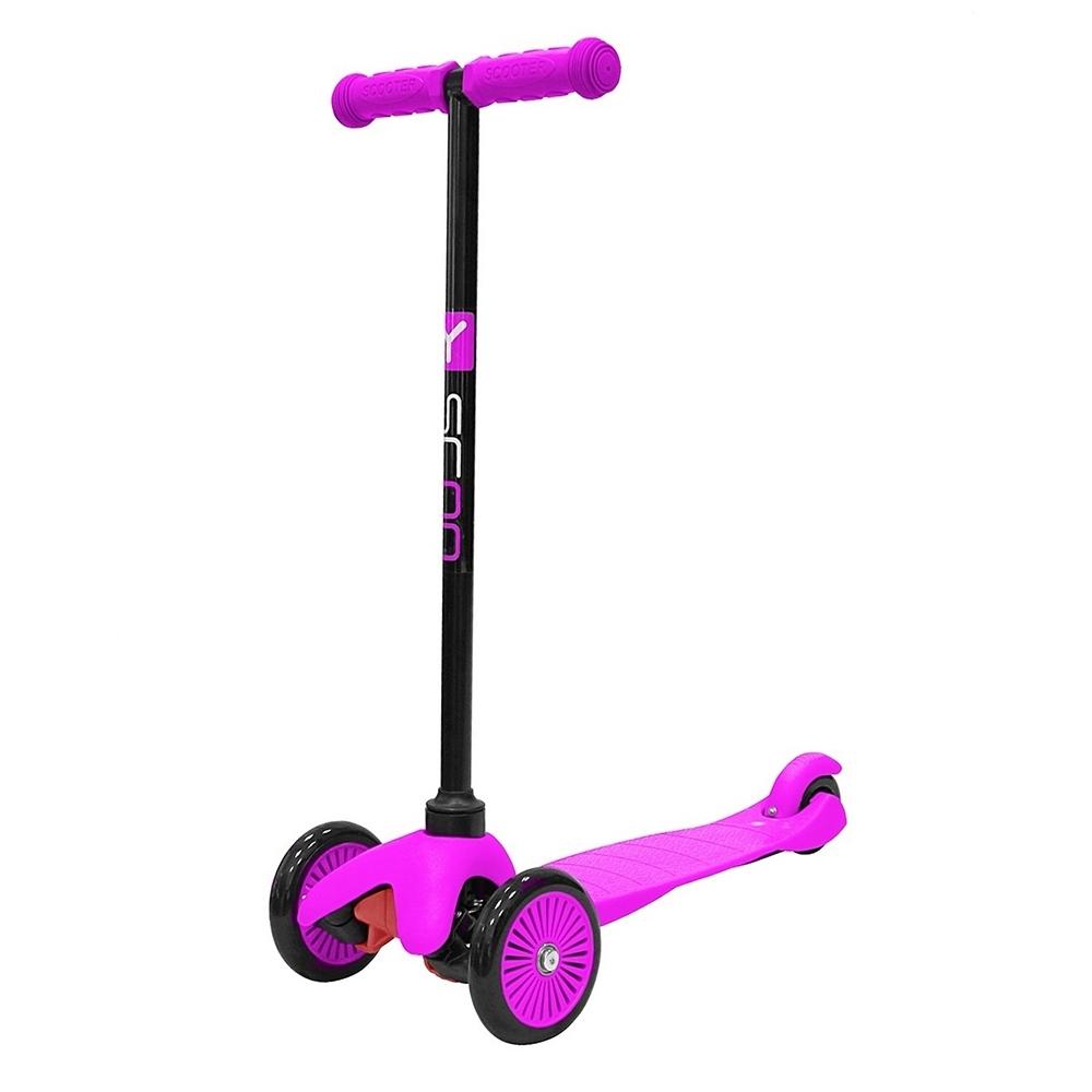 Самокат Y-SCOO mini A-5 Simple с цветными колесами Pink<br>