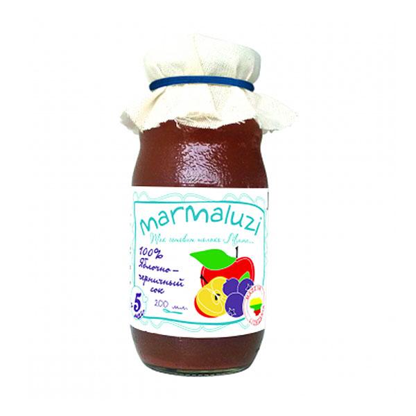 Сок Marmaluzi 200 мл Яблоко черника (с 5 мес)<br>