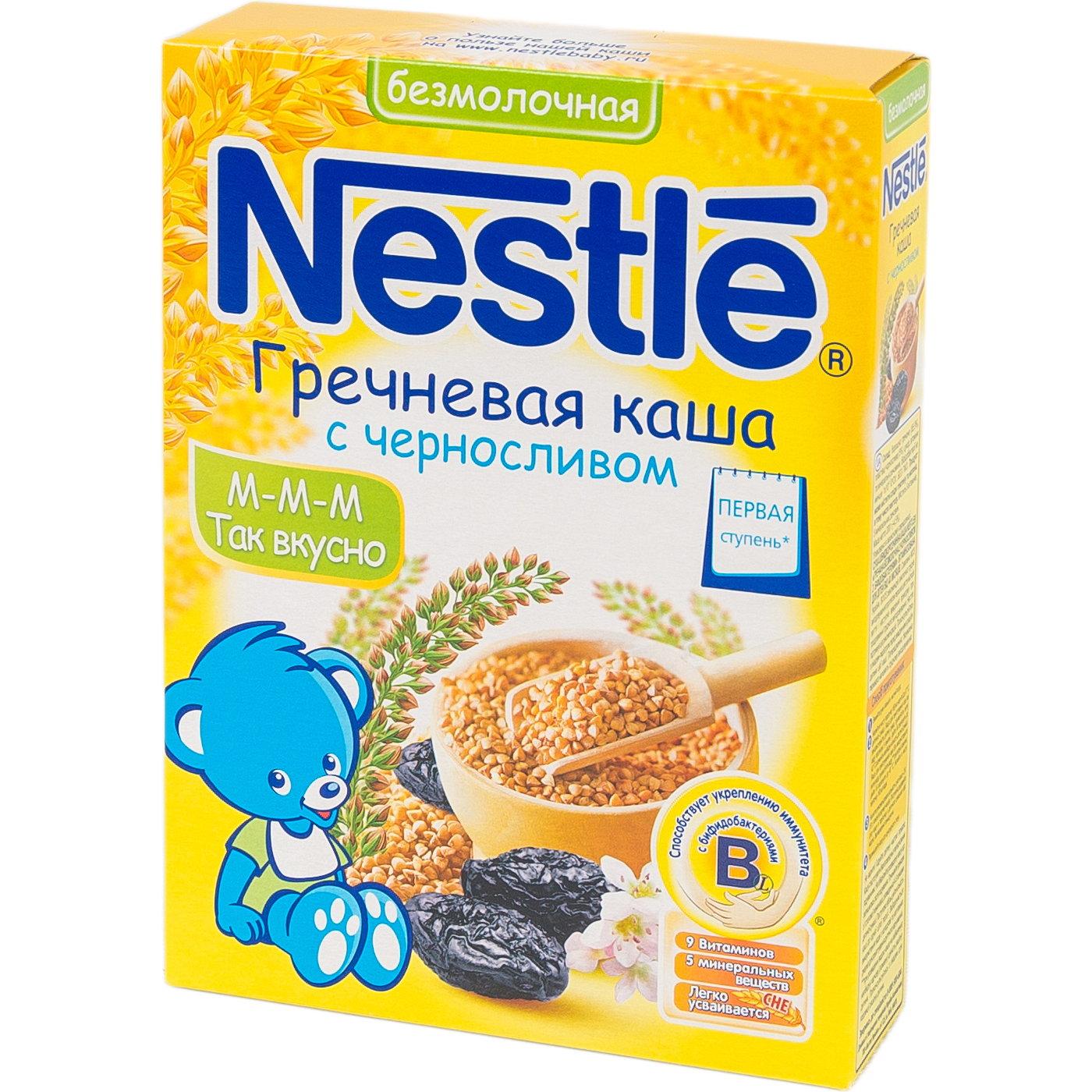 Каша Nestle безмолочная 200 гр Гречневая с черносливом (1 ступень)<br>