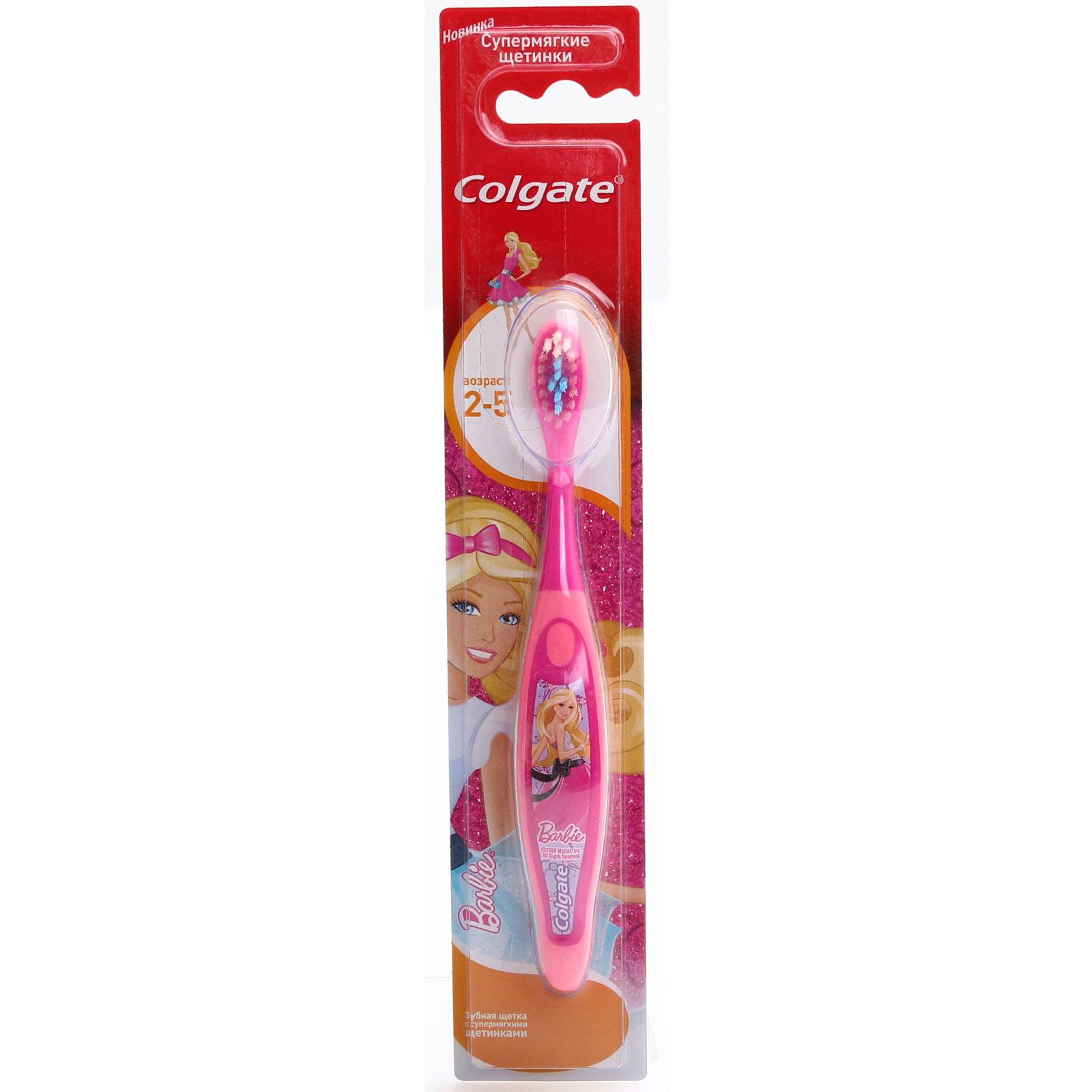 Зубная щетка Colgate Smiles Barbie &amp;amp; Spaidermen с 2 до 5 лет (супермягкие щетинки)<br>
