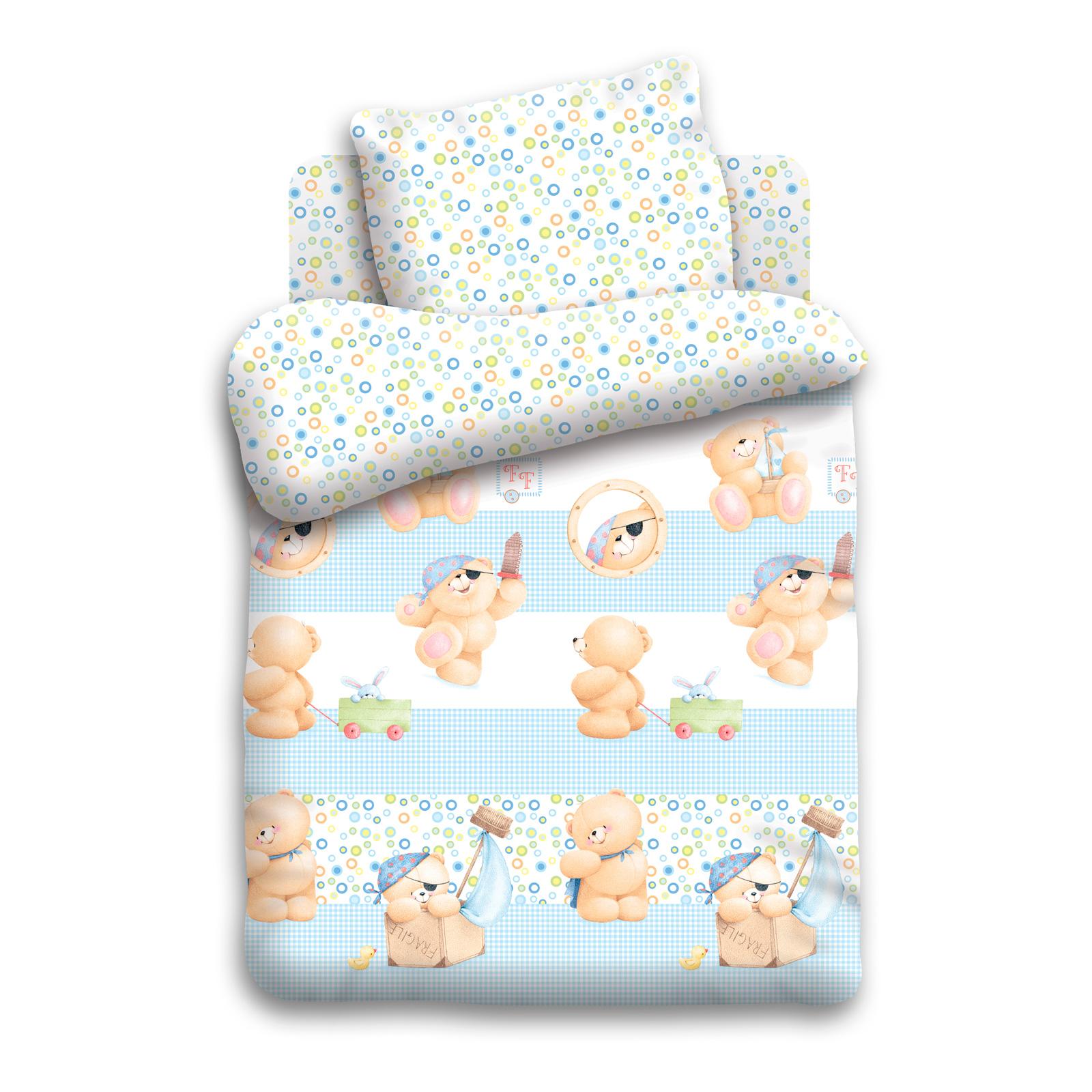 Комплект постельного белья детский 1,5 поплин Непоседа Forever Friends Покоритель морей<br>