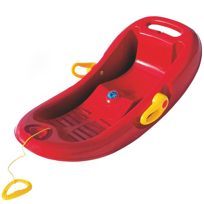 Санки KHW Snow Flipper de Luxe Красные с тормозом<br>
