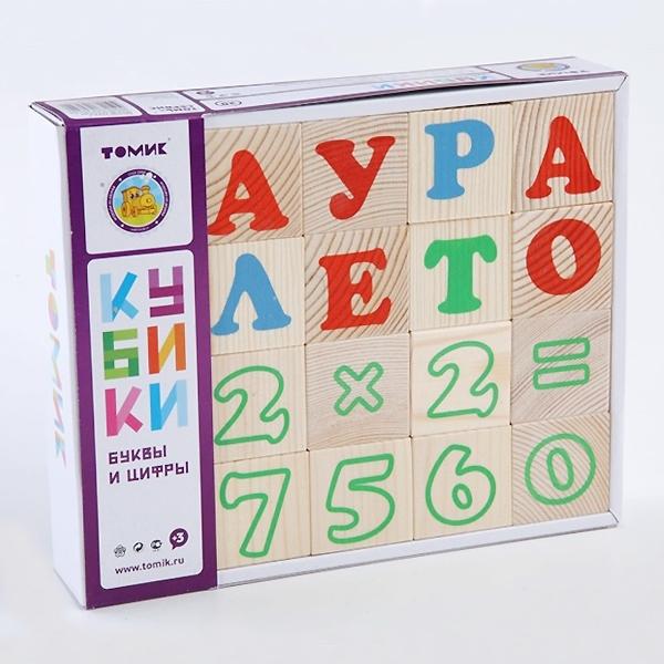 Кубики Томик Алфавит с цифрами Русский (20 кубиков)<br>