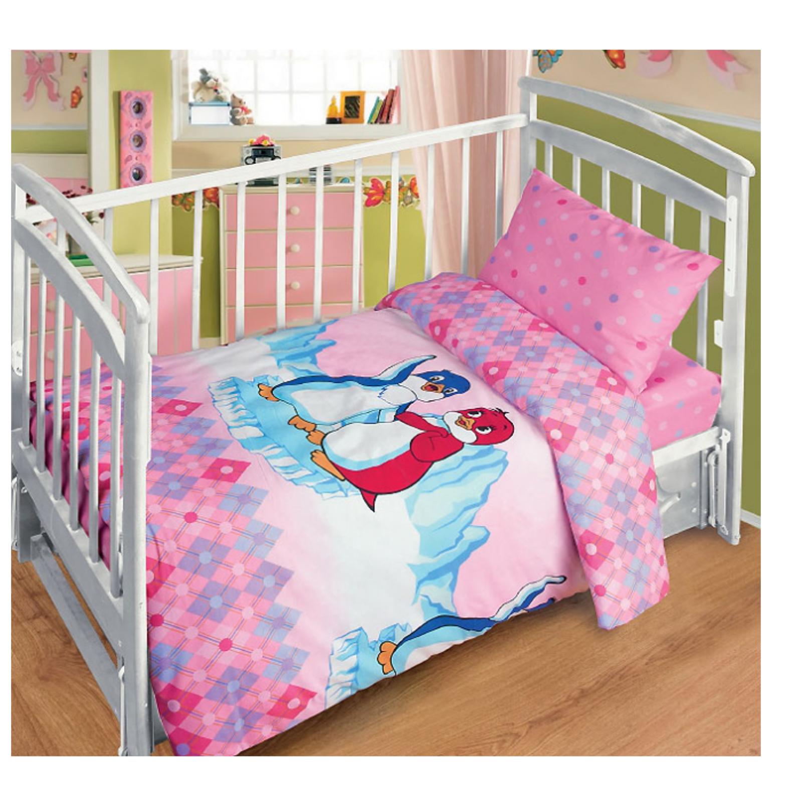 Комплект постельного белья детский бязь Непоседа Союзмультфильм КДСб-1 Лоло и Пепе Розовый