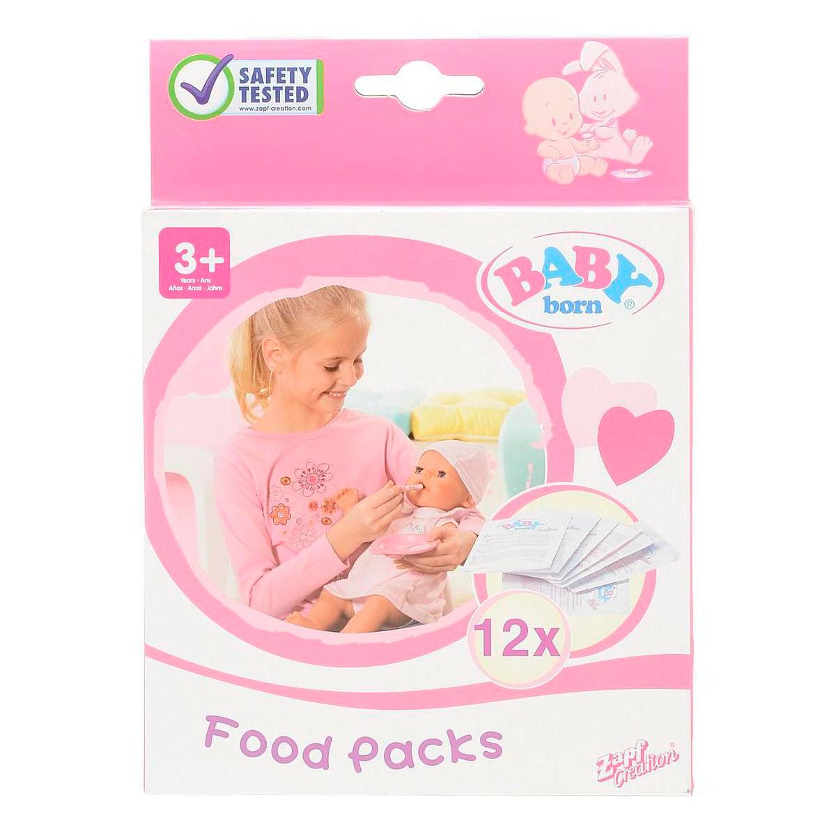 Игрушка Zapf Creation Baby Born Детское питание 12 пакетиков<br>
