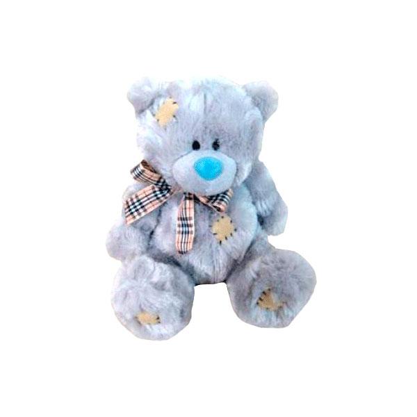 Мягкая игрушка Plush Apple Медведь подарочный серый с бантом<br>