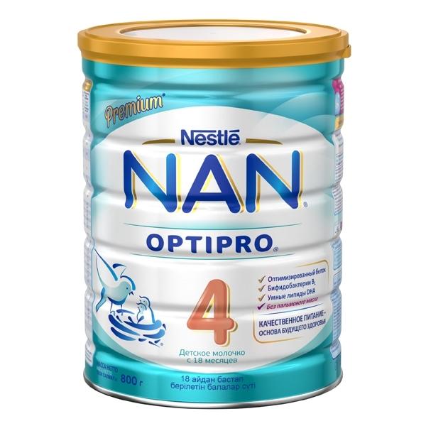 Детское молочко Nestle NAN Premium OPTIPRO 800 гр №4 (с 18 мес)<br>