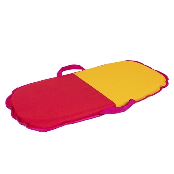 Санки-айсбот Метиз Средние красные с желтым<br>
