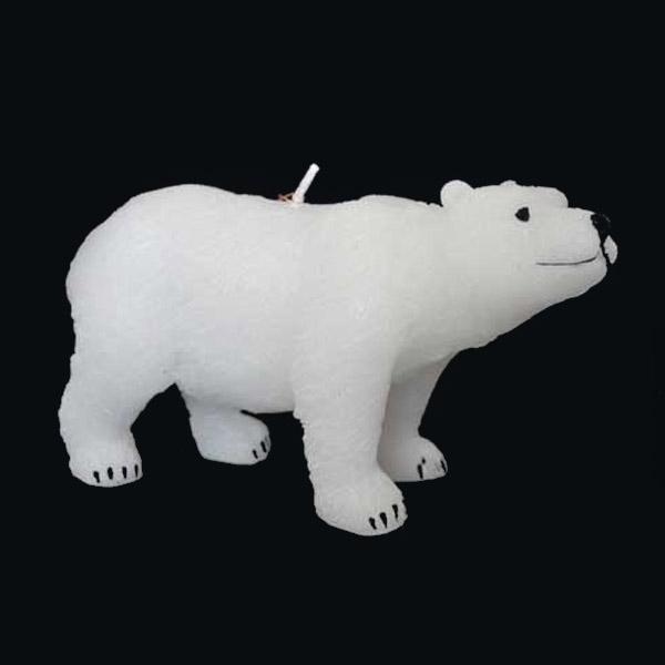 Свеча Winter Wings Полярный медведь 14х7 см в прозрачной коробке<br>