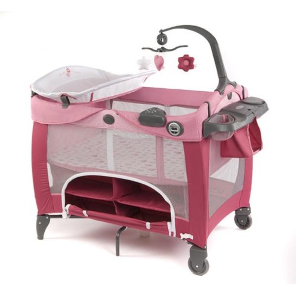 Манеж-кровать Graco Contour Prestige Розовый Spce<br>