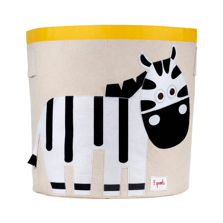 Корзина для хранения 3 Sprouts Зебра (Black&White Zebra) Арт. 67571