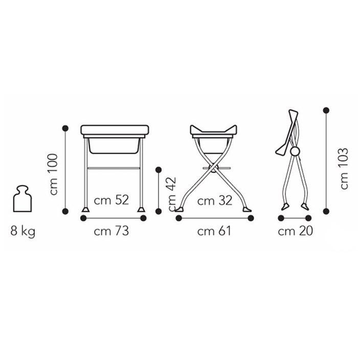 Пеленальный стол Brevi Lindo модель 567/066 от Младенец.ru