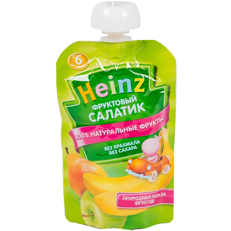Пюре Heinz фруктовое 100 гр Фруктовый салатик с 6 мес<br>