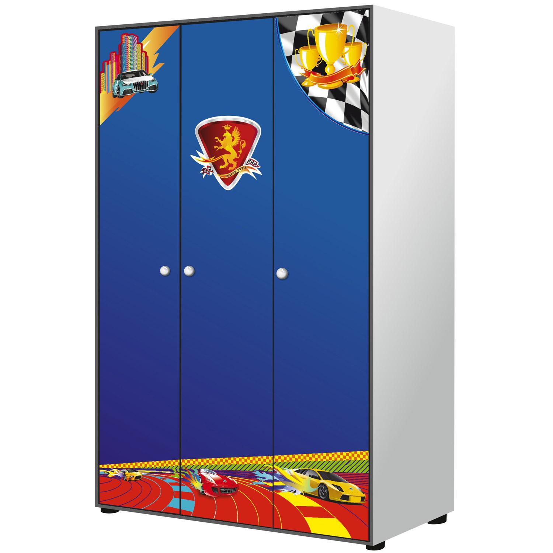 Шкаф 3-дверный Grifon Style RX800 Синий<br>