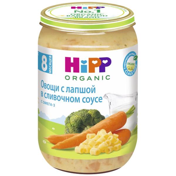Пюре Hipp овощное со злаками 220 гр Овощи с лапшой в сливочном соусе (с 8 мес)<br>