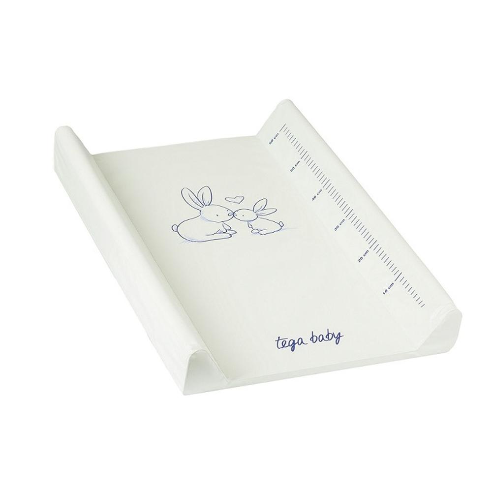 Пеленальная доска Tega Rozeta с жёстким основанием и с меркой Кролики<br>