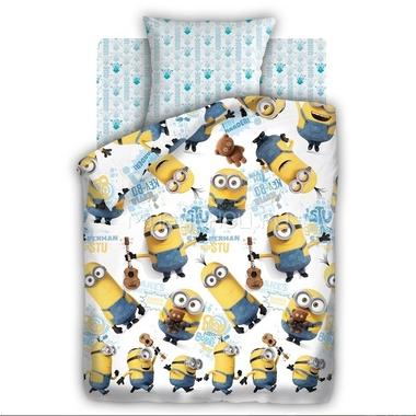 Комплект постельного белья детский 1.5 бязь Непоседа Миньоны с наволочкой 70х70 Уникумы