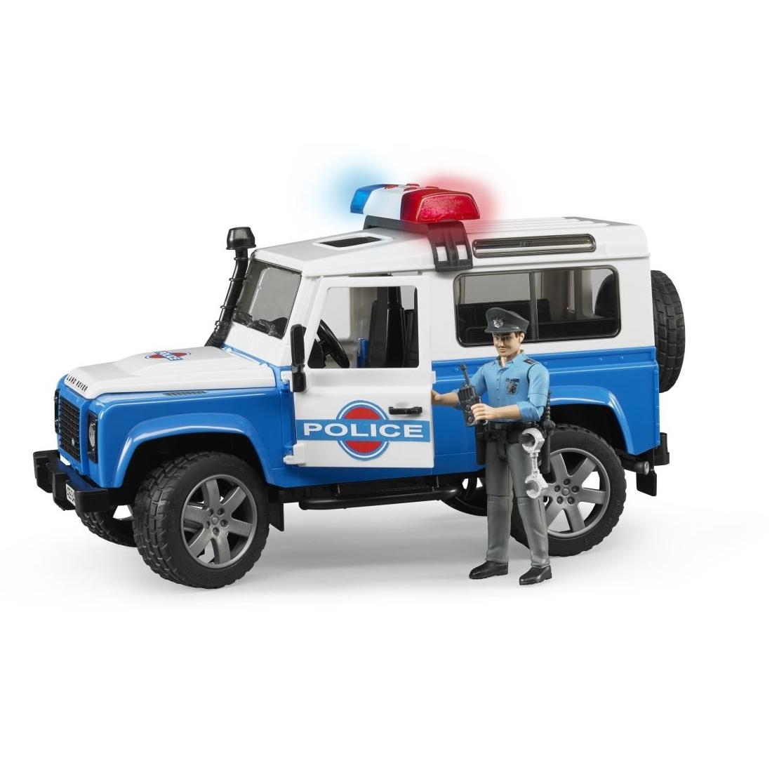 Внедорожник Land Rover Defender Station Wagon Полиция с фигуркой<br>