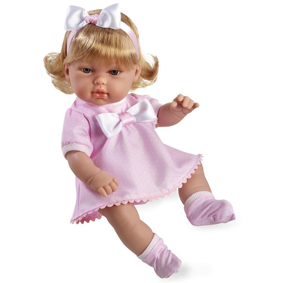Кукла Arias 33 см Блондинка в розовом платье с бантом<br>
