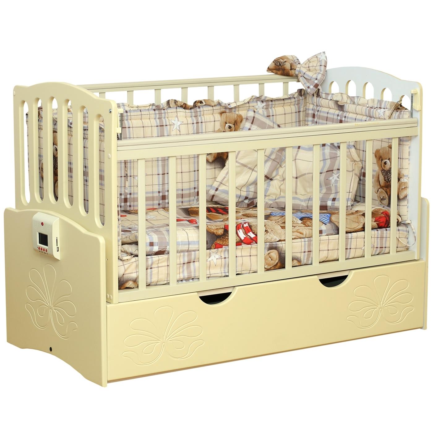 Кроватка Daka Baby Укачай-ка 03 автоматическая Ваниль<br>