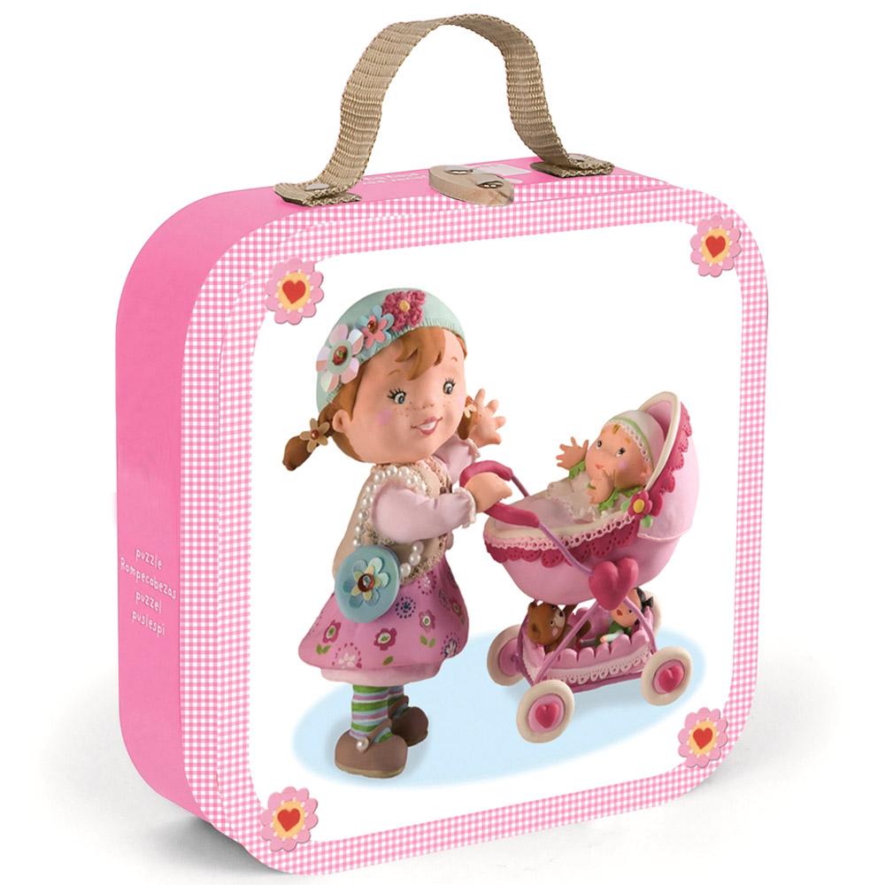 Набор пазлов Janod в квадратном чемоданчике Мама (4 пазла по 6, 9, 12, 16 деталей)<br>