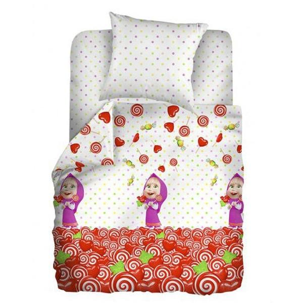 Комплект постельного белья детский хлопок Непоседа Маша и Медведь baby Сластена