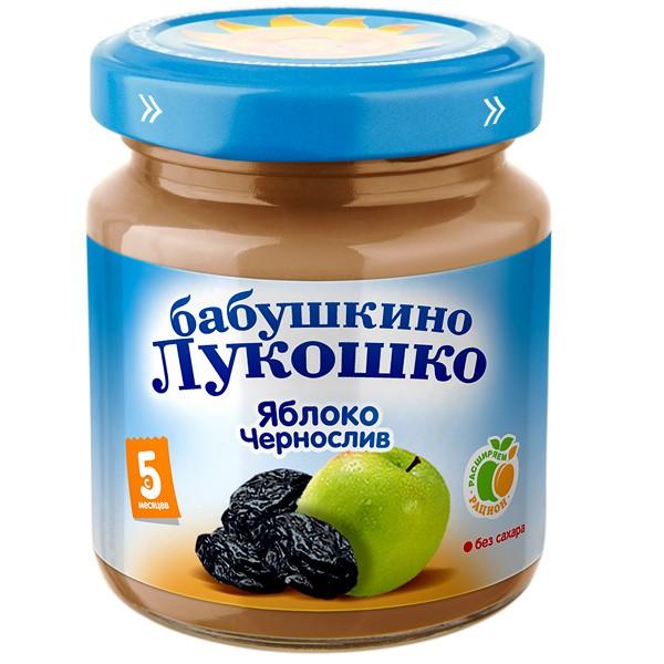 Пюре Бабушкино лукошко фруктовое 100 гр Яблоко с черносливом (с 5 мес)<br>