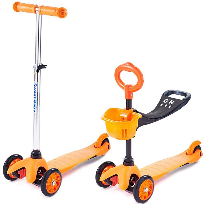 Трехколесный самокат Sweet Baby Triplex Seat Orange<br>