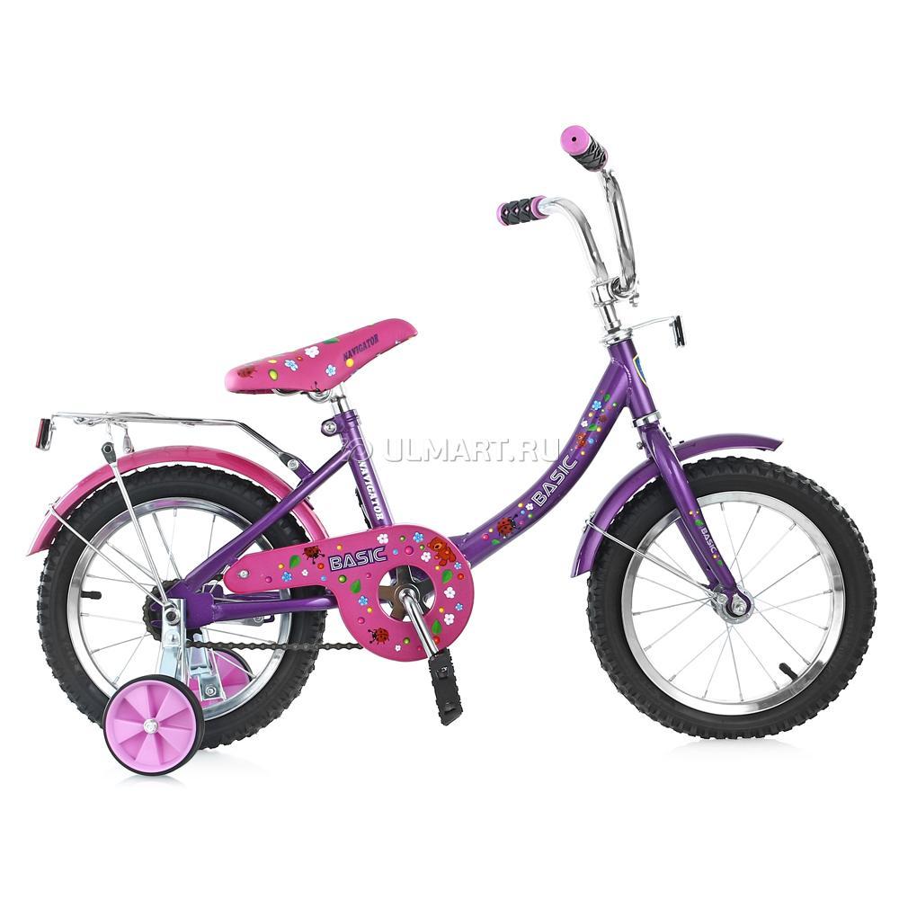 Велосипед Navigator 12 Basic Розовый с фиолетовым<br>
