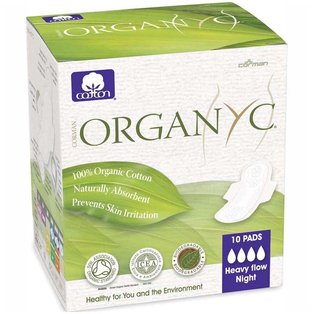 Прокладки с крылышками Organyc 4 капли ультратонкие 10шт<br>