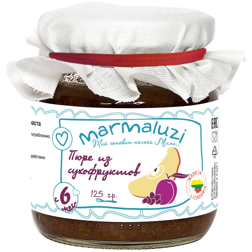 Пюре Marmaluzi фруктовое 125 гр Сухофрукты (с 6 мес)<br>