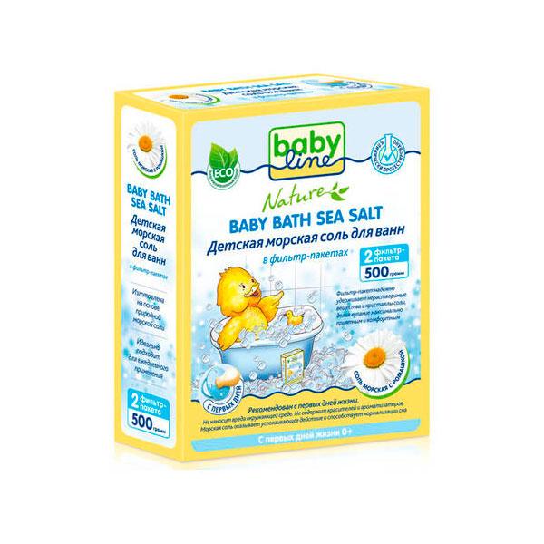 Соль для ванн Babyline Nature детская с ромашкой 500гр<br>
