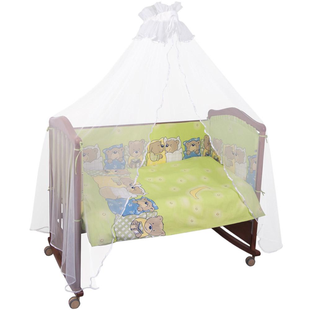 Комплект в кроватку Сонный гномик Лежебоки Салатовый<br>