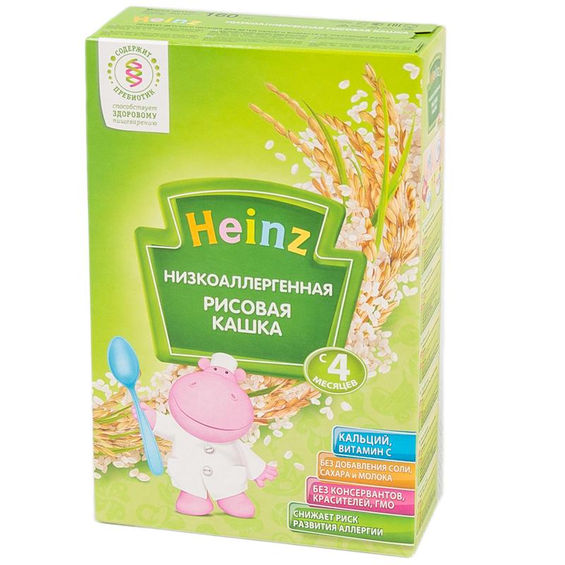 Каша Heinz низкоаллергенная безмолочная 160 гр Рисовая с пребиотиками (с 4 мес)<br>