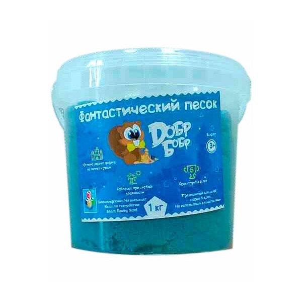 Фантастический песок 1toy Синий 1 кг<br>
